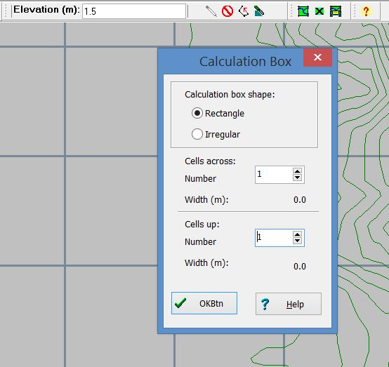 Step 2:  Set the calculation box as rectangular with one cell across and one cell up