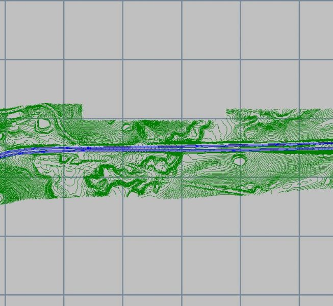 Step 1:  Prepare the model of the road network and the surrounding terrain