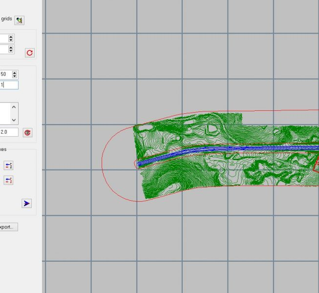 Step 3:  Enter auto-calculation grid and set the grid generation parameters.  Exclusion zones generated around barriers.