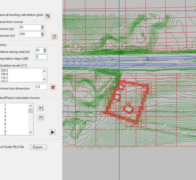 Step 4:  Generate the calculation mesh.   Minimum box size affects the edge smoothness of contouring area.
