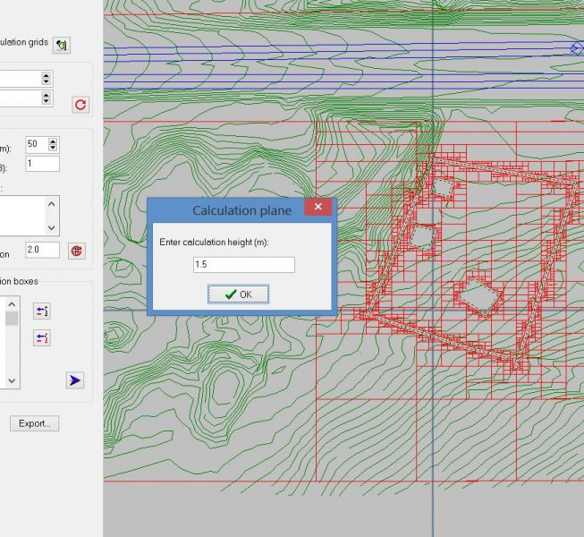 Step 6:  Copy the reduced mesh to the data file at the calculation plane height