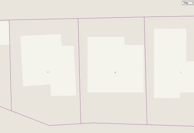Google map boundary database is much closer (0.9m) to the reference Property Boundary Database